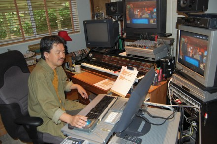 "Sound editor Masanobu ""Tomi"" Tomita was among the many affected by the recent Writers Guild of America strike against Hollywood producers. Currently editing for ""NCIS,"" Tomita has worked on shows such as the ""Star Trek"" series and ""The Best of Both Worlds."" / photo by Leah Heagy"