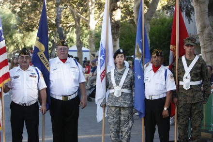 Veterans await their signal to begin leading the La Verne Day parade last September at the Los Angeles County Fair. / photo by Stephanie Arellanes
