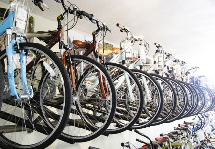 From children's bikes to adult bikes, Jax Bicycle Center in the Claremont Village carries several contemporary brands of bicycles, including Trek, LeMond, Haro, Nirve and Electra as well as bike parts, clothing and other bike-related products. / photo by Walter Mansilla