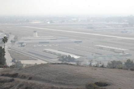 Brackett Airport, located in La Verne, offers flight schools, hangars for planes, a restaurant with a view of the planes taking off and landing and a pilot supply shop. The airport had only one runway until the 1980s, when airport traffic increased. The airport is located on the border of San Dimas, next to Bonelli Park. / photo by Leah Heagy