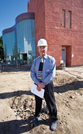 After almost two years of construction, the new Campus Center is set to have its grand opening Sept. 12. John Ferguson, of Gonzalez Goodale architects, serves as the quality assurance principal on the project and helped it gain environmental certification. / photo by Rhiannon Mim