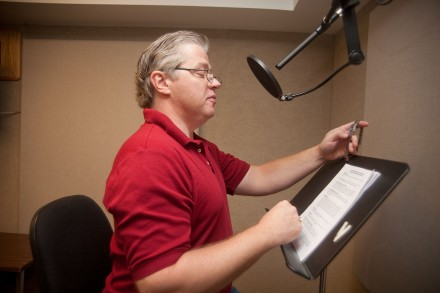 Far from his role as Biff in Back to the Future, Tom Wilson provides his vocal expertise for the role of Saint Damien in local filmmaker Jennifer Hoge's new documentary. Hoge is a graduate of the University of La Verne Communications Department. / photo by Courtney Droke