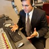 Larry Marino fills KRLA's signal with news everyday for the Inland  Empire. Marino has also been involved with television broadcasting work and has taught radio/television news and production at the University of La Verne. / photo by Courtney Droke