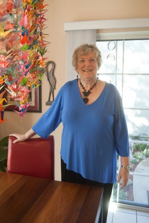 Myrna Wheeler, beloved and prominent figure in the La Verne community, became a Trustee at the University of La Verne in 1985. After being diagnosed July 2009 with leukemia, Myrna was given a thousand origami paper cranes by the Enberg family, which are a symbol of hope and eternity in Japan. / photo by Courtney Droke