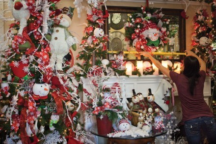 The Christmas spirit is front and center at Gina T Interior Accents. With distinctive snowmen, Santas and elves galore, it is hard not to be in the holiday spirit with the wide assortment of decorations. / photo by Brittney Slater-Shew