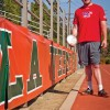 Holding on to the passion that has taken him around the world and earned him Olympic medals, Kevin Brousard, University of La Verne senior radio broadcast major, has not let his lack of sight stop him from believing in his abilities. Specializing in discus, shot put and javelin, Brousard has won significant awards in games for the blind. Brousard says that many times he throws as hard as he can and then asks how far it went.