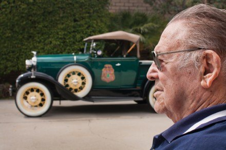 Joe Vaniman, of La Verne, bought his 1930 Model A Roadster in 2004 and restored it with help from friends, including Stephen Salazar of La Verne, in the Pomona Valley Model A Club. As a final touch, Joe painted his Model A forest green and affixed the Los Angeles County Forestry Service insignia to its doors to honor his 35 years of service to the department as fire fighter and fire captain. / photo by Christian Uriarte