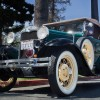 Joe Vaniman parks his Model A Ford in front of the historical San Dimas Walker House and looks down the road at the San Dimas Mountain Rescue and Los Angeles County Forestry Service. It was in that building that Vaniman started work June 1, 1942, as a forest service firefighter. / photo by Christian Uriarte