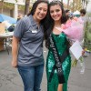 Once a Homecoming princess herself, Wendy Lau pauses to congratulate sorority sister and 2012 queen Zulema De La Torre. Lau founded the University of La Verne's Phi Sigma Sigma chapter and remains an active alumna as a Supreme Council director of Phi Sigma Sigma Sorority. / photo by Jessica Harsen