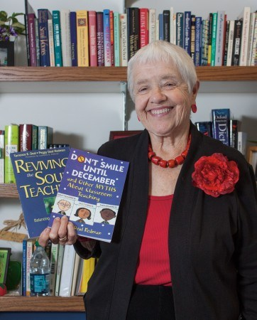 """Peggy Redman realized her love for teaching early on, gaining inspiration from the many educators in her family. Redman is the author of """"Don't Smile Until December"""" and """"Reviving the Soul of Teaching."""" / photo by Stephanie Ball"""