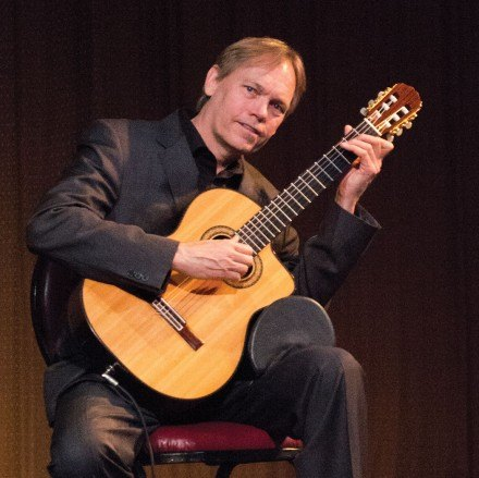 Professor and performer Michael Ryan has spent his life immersed in music, dedicating most of his time to playing classical guitar. He plays in venues around the La Verne area during the school year and then travels to Europe in the summer to entertain crowds. / photo by Amanda Nieto