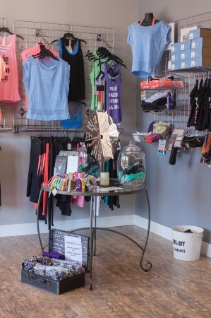 Xtend Barre sells a variety of workout clothes, including pants, shirts, sports bras and special barre socks with grip on the bottom. Xtend Barre is on the north side of Foothill Boulevard across the street from In-N-Out Burger. / photo by Stephanie Ball