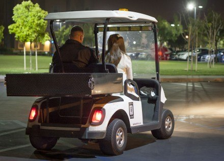 University of La Verne Campus Safety provides 24-hour assistance for students who want to be escorted to their cars, particularly at night. To arrange a Campus Safety escort call 909-208-4903. / photo by Bailey Maguire