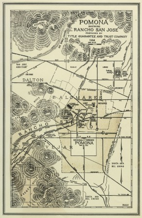 Map courtesy of the Historical Society of Pomona