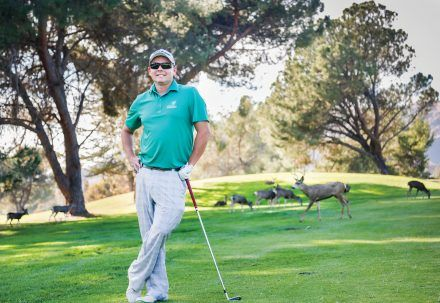 Kenny Murray, Marshall Canyon Golf Course manager and golf professional, says the golf course is the deer's home. Many of the deer tend to gather in the trees near Hole 4 where they find shade from the relentless California sun. / photo by Megan Peralez