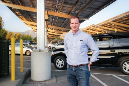 Sun Power is a solar energy company that works with businesses and individuals to provide solar electric panels. Sean Mantucca, project development manager of Sun Power in Anaheim, California (pictured), led the project for the Bonita Unified School District. / photo by Berenice Gonzalez