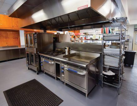 The newly remodeled kitchen at the La Verne Church of the Brethren supports Church and community events. In addition to many Church related events, the kitchen is also used occasionally to cook meals for University events, for the homeless and for youth groups, such as ballet students who use the studio at the Church. / photo by Nadira Fatah