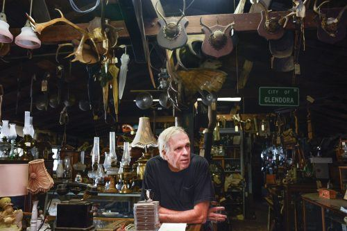 Ken Ruppert, owner of Ken's Olden Oddities, located on White Avenue in La Verne, is a long-time La Verne  resident. Ken started working at his first shop in Pomona at the age of 18 with ­­­his father Frank. / photo by Dorothy Gartsman