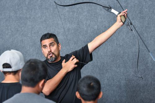 Vince Amaya, owner of 2120 Archery Tag in La Verne, says archery tag is a cost efficient and fun activity for both children and adults. / photo by Maydeen Merino