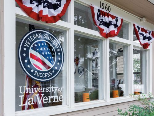 The University of La Verne's Center for Veteran Student Success. / photo by Ariel Torres