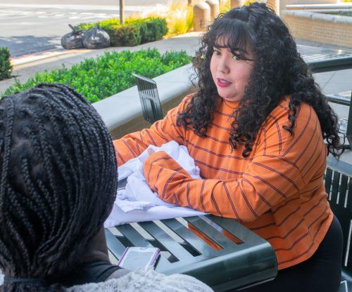 Junior biology major Itzel Jauregui says parking fluctuates on the University campus. However, she says she always has difficulty finding parking in the parking structure. / photo by Veronyca Norcia