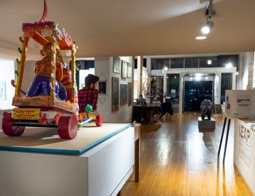 The dA Center for the Arts, located at 252 South Main Street #D in Pomona, showcases all forms of art. The dA acts as a community center for art events offering a safe space for creation, children's programs and professionally taught classes. / photo by Natasha Brennan