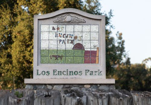 Los Encinos Park, located at 4788 Cabot Lane, (near Wheeler Avenue and Baseline Road) in La Verne hosts a small playground, basketball court and a picnic area. Water sources come from Aldersgate Drive, which is downhill and behind the recreation area. / photo by Claudia Ceja
