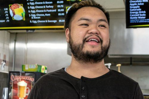 Miss Donuts owner Danny Sou explains his worries of the limited parking around Old Towne La Verne due to University of La Verne students occasionally using his restaurant private parking area to park their cars. / photo by Veronyca Norcia
