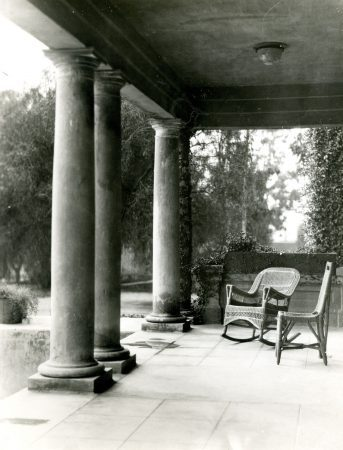 As a residence hall, Miller Hall sported Ivy covered walls and wicker chairs. / photo courtesy of University of La Verne Archives