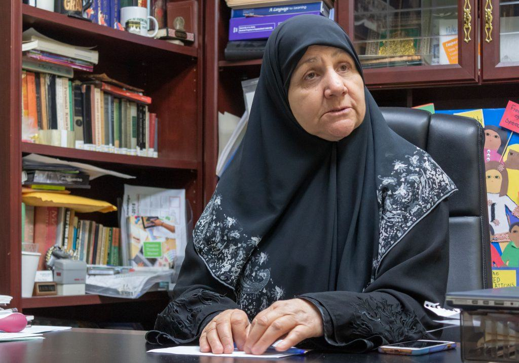Principal Dr. Haleema Shaikley is the reason City of Knowledge has continued educating students for 25 years. Her idea to create this school stemmed from her idea of wanting Islam to be more prominent in her children's lives. Principal Shaikley voices how grateful she is for her students, for the community and for all the help the school has received since 1994. She also says she is pleased that the institution has become a generational school. / photo by Ariel Torres