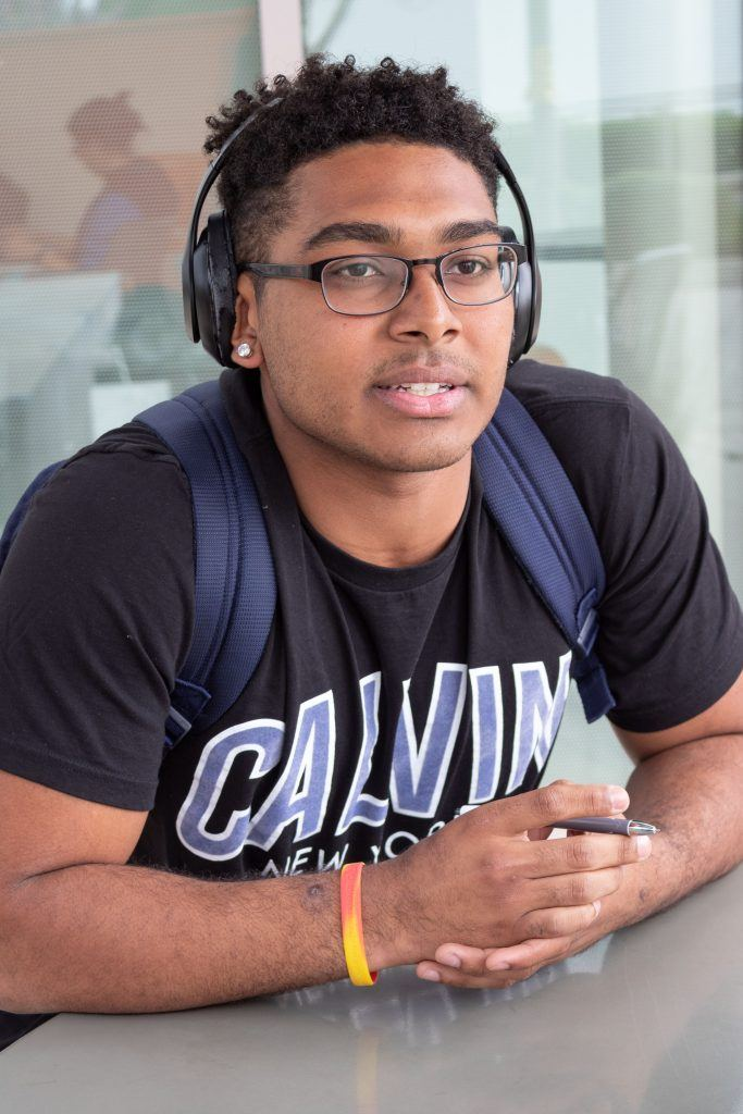 "Marcus Blevins, sophomore business administration ""I am not scared since I have grown up with hate crimes around me all the time. I was never affected by one, but of course it will always be an issue. You can keep bringing awareness to the issue, but it takes time to change people and of course it will still be here for awhile. I was in shock more of how violent the situation got; not really that there was a hate crime, but that it happened here."""
