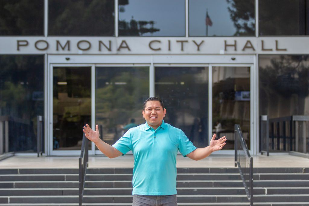 Victor Preciado, Pomona District 2 City Council member, represents nearly all of the downtown area. Victor was born and raised in Pomona and now resides in the Mayfair Hotel, located in the historic downtown area. / photo by Ashley Villavicencio