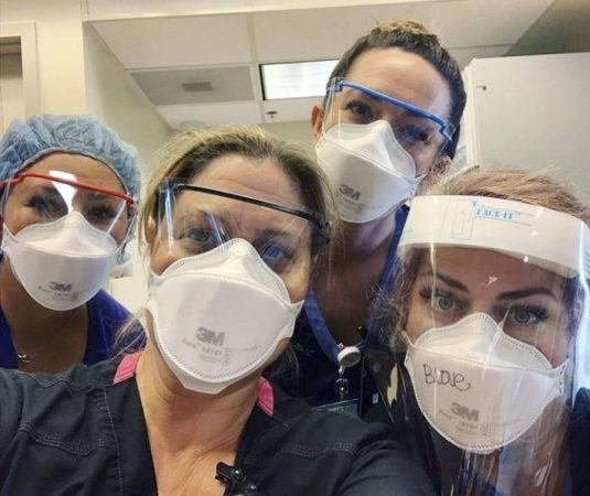 Nurses at Santa Barbara Cottage Hospital work hard for long hours to help the sick patients fight the virus as they risk their own lives. / photo courtesy of Santa Barbara Cottage Hospital