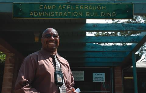 Camp Afflerbaugh Director Leon Bass has worked for the Los Angeles County Probation Department for more than 32 years. / photo by Emmah Obradovich