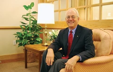 President and chief executive officer of Hillcrest Retirement Community since 1983, Charles Cable enjoys his work. Cable graduated from the University of La Verne, and earned his master's degree in public health at the University of California, Los Angeles. / photo by Wei Huang