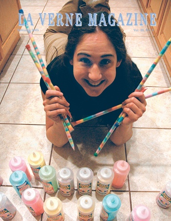 Black cherry, root beer, cotton candy, tangerine, green apple and lemonade—ULV alumna Roxy Klein says Sandy Candy comes in more flavors than there are colors in the rainbow. / photo by Reina Santa Cruz