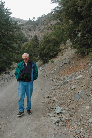 Dr. Harvey Good, ULV biology professor and resident of Mt. Baldy, intimately knows the San Antonio Falls area, known for its great hiking trails. / photo by Reina Santa Cruz