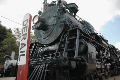 Built in 1927 for the Santa Fe Railway, this Hudson style 3450 is the only one of its kind left in the world. The Hudson was first used in New York along the Hudson River. October 1955, the Atchison, Topeka and Santa Fe Railway donated the locomotive. / photo by Reina Santa Cruz