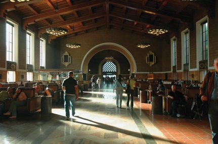Union Station, circa 1937, symbolizes the glory days of L.A. transportation. With the Metrolink meeting all other transportation lines, L.A. is slowly building on its incomplete system. / photo by Reina Santa Cruz