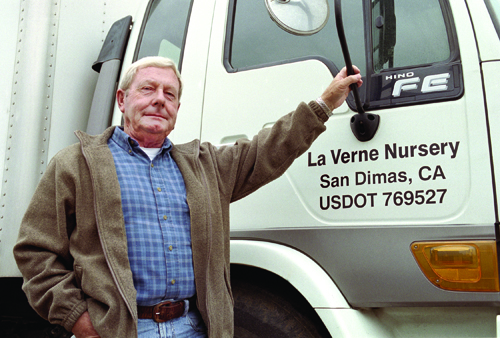 Dieter Lodder made his first nursery delivery in the 1970s out of the trunk of his Monte Carlo. Now, his 35-acre wholesale nursery delivers to stores such as Lowe's, Wal-Mart, Orchard Supply and Home Depot. / photo by Veronica Garcia