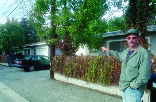 A lifelong resident of La Verne, Mike Riggs is one of many homeowners renting out second unit space behind his home on Third Street. One of his former residents worked as a nanny to his daughters in lieu of paying rent. / photo by Gloria Diaz
