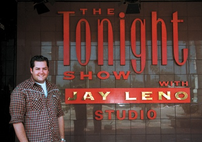 Impressed with his hard work and enthusiasm as an intern, The Tonight Show producers granted Ross Mathews the break of a lifetime on the last day of his internship. Mathews has scheduled show appearances through summer 2002. / photo by Amy Babin