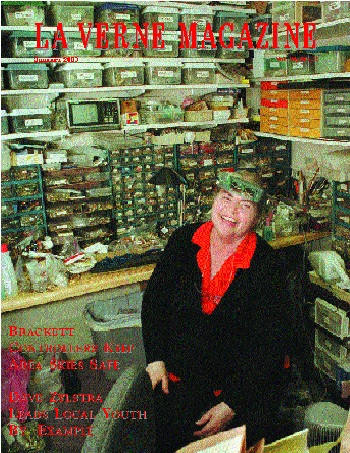 Betty Klousek sold her goods at a store in Glendora called The Irish Nook for 13 years before she moved to La Verne in 1995. In the back offices of her current store, hundreds of thousands of beads and gems are stored and labeled, ready to be replacements on items in need of repair. / photo by Matt Wright
