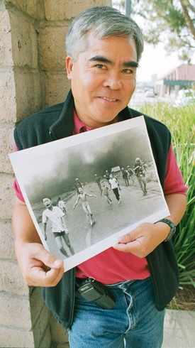 """Kim Phoc wishes not to be known as simply """"the girl in the photograph."""" Currently a United Nations' Peace Ambassador, she refers to Pulitzer-Prize photography winner Nick Ut as her uncle. / photo by Natalie Fowle"""