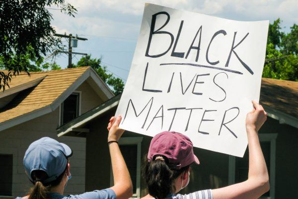 """The City of La Verne's rally against police brutality and racial motivated violence had protesters carrying signs the same message, """"Black Lives Matter."""" / photo by Christine Diaz"""